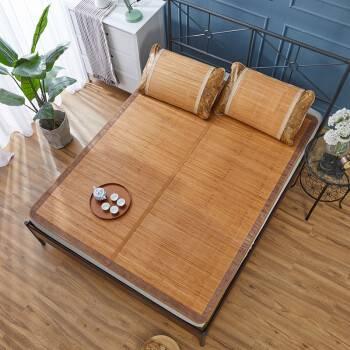 诱寝 碳化镜面折叠竹席 单双人夏季学生宿舍凉席 可折叠双面空调凉席 碳化款 120*190cm