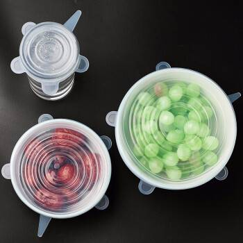 食品级硅胶保鲜盖万能保鲜膜可伸缩重复使用